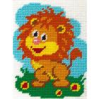 Набор для вышивания с пряжей BAMBINI  X2256 «Веселый львенок» 15*20 см