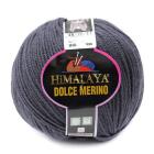 Пряжа Дольче Мерино (Himalaya Dolce Merino) 100 г/ 230 м 59409 т. серый