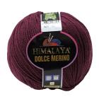 Пряжа Дольче Мерино (Himalaya Dolce Merino) 100 г/ 230 м 59417 сливовый