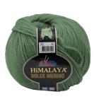 Пряжа Дольче Мерино (Himalaya Dolce Merino) 100 г/ 230 м 59433 зелёный