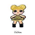 Аппликация пришивная  45 401  «Кукла L.O.L.»  15*24 см(10)