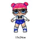 Аппликация пришивная  45 404  «Кукла L.O.L.»  15*24 см(10)