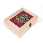 Заготовка для декора МП-12010 Шкатулка + вышивка «Символ богатства»