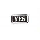 Термоаппликация №4822 «Yes» 4.4*2.2 см (10)