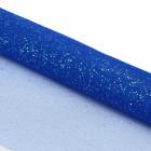 Ткань 50*75 см Сетка с глиттером 28328 синий