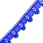 Кружево гипюр  25 мм TR.3058  (уп. 9 м) цв.11 синий
