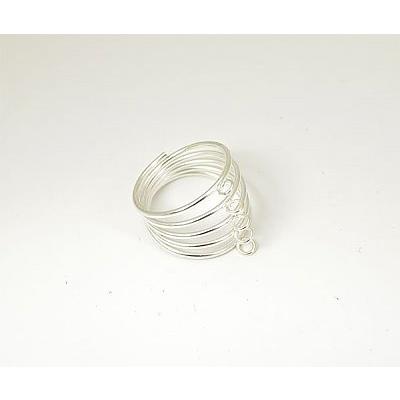 Заготовка для кольца с пружиной серебро в интернет-магазине Швейпрофи.рф