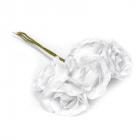 Декор MG-FA72-04 цветы цв 1 белый