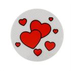 Световозвращающий значок 505804 «Два сердца» 50 мм