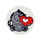 Световозвращающий значок 505807 «Кот с сердцем» 50 мм