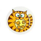Световозвращающий значок 902217 «Рыжий кот» 50 мм