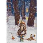 Рисунок на ткани «Конек 1262 Зимнее счастье» 29*39 см