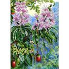 Рисунок на ткани «Конек 9965 Экзотические цветы» 29*39 см