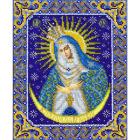 Набор для вышивания бисером Паутинка Б-1090 «Богородица Остробамская» 20*25 см