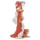 Рисунок для вышивания бисером Каролинка КБЛ-2005 «Дама с шарфом» 35*36 см
