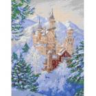 Рисунок для вышивания бисером Каролинка КБП-3039 «Зимний замок» 27*36 см