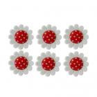 Пуговицы набор «Ромашка в горошек» A0594-W2 35/1   (D31 красный) 7717686