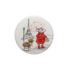 Игольница- магнит 559350 (16) «Мышка в Париже» 25*3 мм