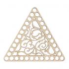 Заготовка для декора L1016 крышка треугольник 16*16*0,4 см