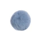 Помпон натуральный  6-7 см Кролик RUS.PNK3.06 голубой