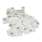 Размерники в пакетике (уп. 1000 шт.) №56 белый