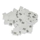 Размерники в пакетике (уп. 1000 шт.) №58 белый