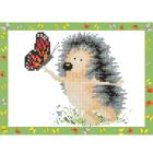 Алмазная мозаика Фрея ALVS-003 «Ежик с бабочкой»  14*19,5см