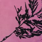 Ткань подкл. п/э 190 текс с принтом №8107 розовый/чёрный (растения) П