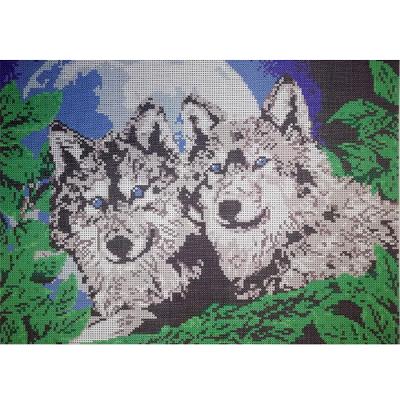 Рисунок для вышивания бисером Мята К-3016 «Волки» 26.5*37 см в интернет-магазине Швейпрофи.рф
