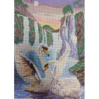 Рисунок для вышивания бисером Мята К-3025 «Лебеди» 26.5*37.5 см