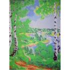 Рисунок для вышивания бисером Мята К-3036 «Берёзы» 24*32 см