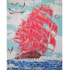 Рисунок для вышивания бисером Мята К-3042 «Алые паруса» 28*35 см