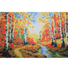 Рисунок для вышивания бисером Мята К-3076 «Осень» 26*38 см