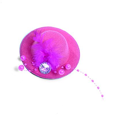Заколка «Шляпка», фетр,  8 см в интернет-магазине Швейпрофи.рф