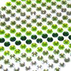 серебро  +  салатовый  +  зелёный