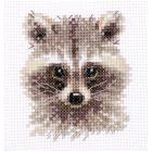 Набор для вышивания Алиса 0-208 «Животные в портретах. Енотик» 7*8 см