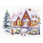 Набор для вышивания Чудесная Игла  №110-041 «Зимний домик» 17*20 см