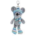 Брелок фигурка AR483 декоративная мышка в шарфе19 см голубой 7728025