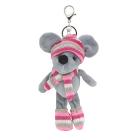Брелок фигурка AR483 декоративная мышка в шарфе19 см розовый 7728025