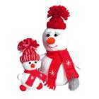 Набор для шитья Кукла Перловка из фетра ПСФ-1603 «Снегомама-Снегодочка» 558322 16,5 см