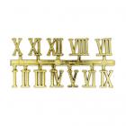 Часовые цифры Астра 7724167 5AS-76 «Римские» 1,3 см золото