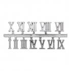 Часовые цифры Астра 7724167 5AS-76 «Римские» 1,3 см серебро