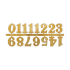 Часовые цифры Астра 7724168 5AS-85 «Арабские» 2,5 см золото