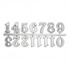 Часовые цифры Астра 7724168 5AS-85 «Арабские» 2,5 см серебро