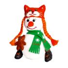 Набор для шитья Кукла Перловка из фетра ПСФ-1604 «Снеговичка» 558321 13,5 см