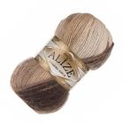 Пряжа Ангора голд батик (Angora Gold Batik), 100 г/ 550 м, 6779 коричн+беж+молочный