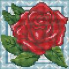 Алмазная мозаика АЖ-1564  «Роза в кружевах» 15*15 см