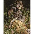 Алмазная мозаика Кристалл на дер.осн. GZ307 «Пара волков» 40*50 см