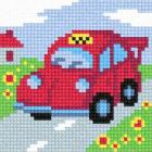 Рисунок на канве ЧАРIВНИЦЯ С62 (страмин)  «Такси» 10*10 см