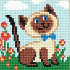 Рисунок на канве ЧАРIВНИЦЯ С79 (страмин)  «Кошка в саду» 10*10 см